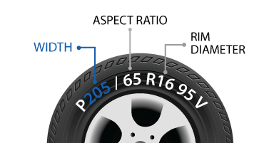 The Width can be found printed on your tire